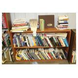 Bookshelf and books