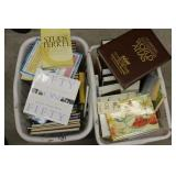 Laundry Baskets of books