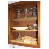 Cupboard of glassware