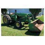 John Deere 1020 Diesel with 145 loader