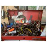Craftsman stacking tool box and tools