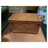 wicker storage chests