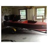 Chris Craft with trailer