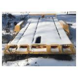 7000# axles on tilt deck trailer