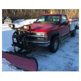 1999 Chevrolet with plow