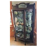 Curved Glass Display Cabinet