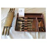 India Knife set and silverware set