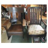 Pair of Oak Chairs Rocking Chairs
