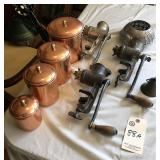 Universal Grinders and copper canister set