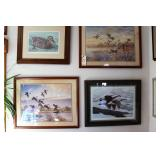 4 Waterfowl signed prints