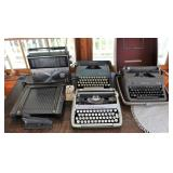 typewriter collection and CB radio