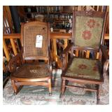 pair of childs rocking chairs