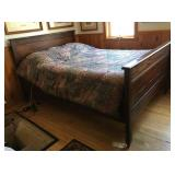 Oak Short Full Bed