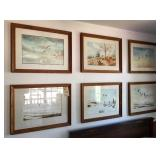 6 Frank Smith duck prints