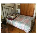 Brass Bed, short full, bedding included
