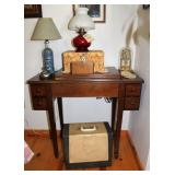 Singer Sewing Machine, lamps, clock,