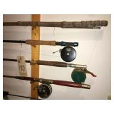 Rods and reels, fly rods and nets