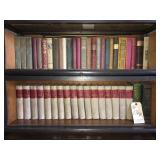 collection of antique books in Lot 191 bookcase