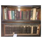 antique books, three shelves