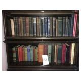 antique books in and on lot #195