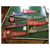 MLB and college pennants