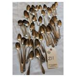 set of spoons, sterling silver