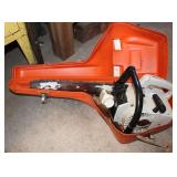 Stihl 015 chainsaw and case