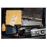 Tote of CB radios and accessories
