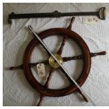 Ships wheel and water pump