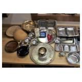 Silver Plate and Stainless servingware
