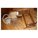Doll Furniture and Baskets