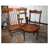Rocking Chair, oval stand, director chair