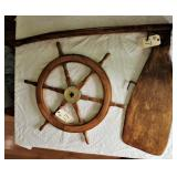 Ships wheel and Ship Rudder