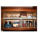 2 cupboards with contents