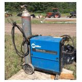 Miller 250 MIG welder with tank and cart