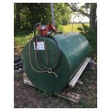 750 gallon fuel barrel with electric pump