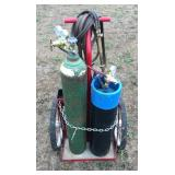 Oxygen-Acetylene Torches and Cart