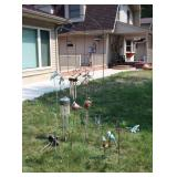 Chimes and Bird yard ornaments