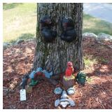 Bears and Birds yard and tree decorations