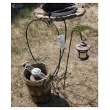 Churn, plant hanger and lantern