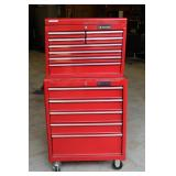 Husky stacking tool boxes and contents