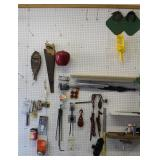 Peg Board section with contents