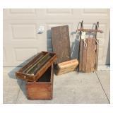 Wardrobe, Carpenter Box, hand sleigh