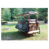 Covered wagon, steel wheels