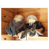 Handmade Granny and Grampa dolls