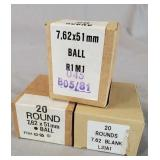 7.62x51mm Ball and Blanks 60 Rounds