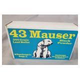 43 Mauser Black Powder 20 Rounds