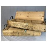 Pair 150mm Howitzer Projectile Crates