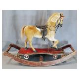 Antique 2-In-1 Pull Hide Covered Horse
