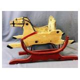 Antique Wooden Horse Rocking Chair
